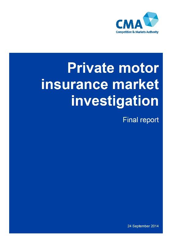 Private Motor Insurance Market Investigation
